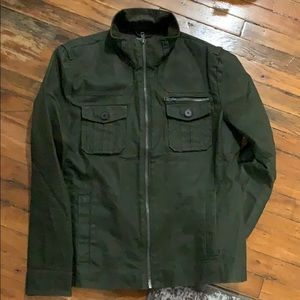 H&M Military Green Waxed Texture Jacket